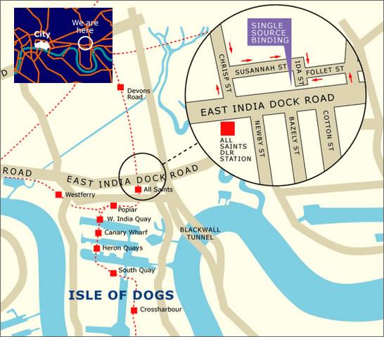 Single Source Binding Address: 223 E India Dock Rd, Poplar, London E14 0ED